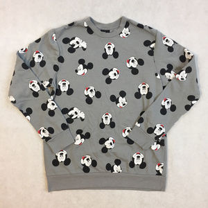 All Over Mickey Mouse Grey Crewneck